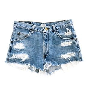 WRANGLER Urban Thread Ripped Hi Rise Jean Shorts